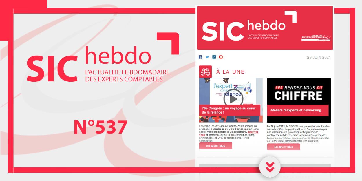 SIC Hebdo N° 537